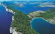 The National park of Kornati islands and the National park of Krka