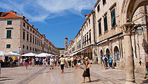 Dubrovnik város falai